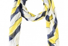 FOULARD SCARF LONG BEACH Blazing Yellow