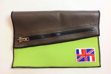 NIL Bag/CLUTCH(Brown Leather×Lime)+option