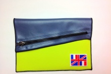 NIL Bag/CLUTCH(Navy Leather×Lime)+option