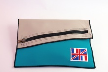 NIL Bag/CLUTCH(Beige Leather×Turquoise)+option