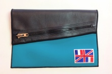 NIL Bag/CLUTCH(Black Leather×Turquoise)+option