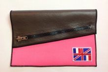 NIL Bag/CLUTCH(Brown Leather×Pink)+option