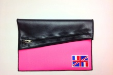 NIL Bag/CLUTCH(Black Leather×Pink)+option