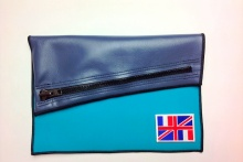 NIL Bag/CLUTCH(Navy Leather×Turquoise)+option