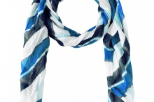FOULARD SCARF LONG BEACH Blue Depth